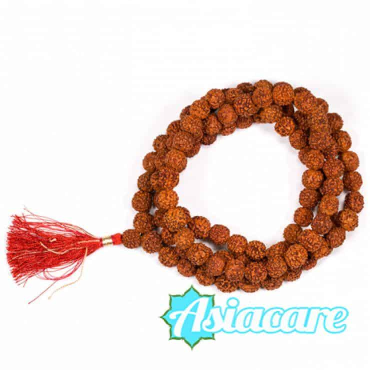 Рудракша мала – молитвена броеница от семена рудракша 12 мм