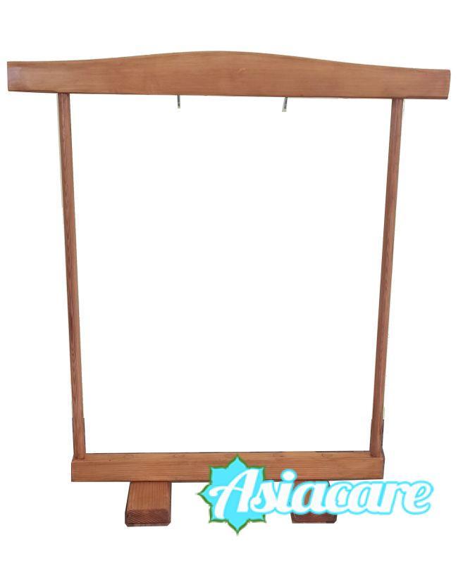 Дървена стойка стойка за гонг до 45 см
